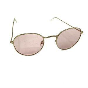 Round gold framed colored lenses sunglasses